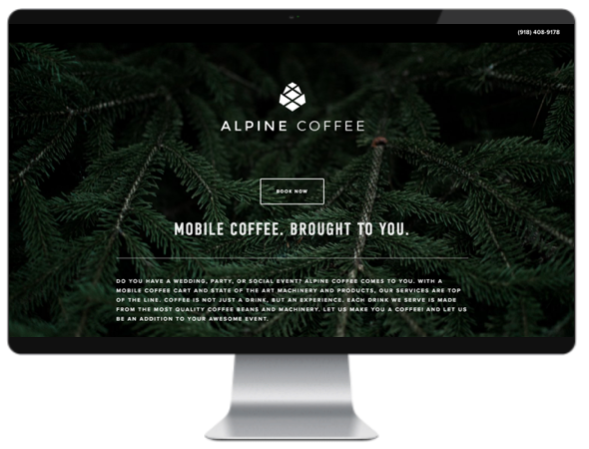 alpine coffee, tulsa, oklahoma, coffee cart, mobile coffee cart, coffee, valiant, branding, marketing, valiant branding, web-design, web, design