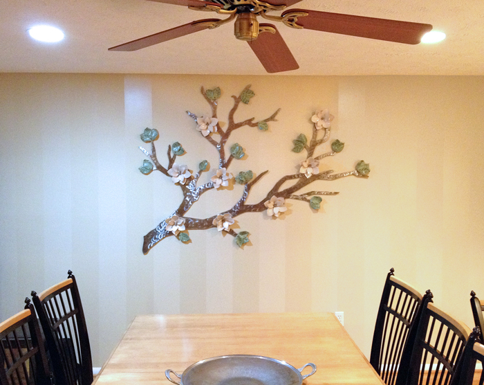 Magnolias on a Stainless Steel branch 6'x4'