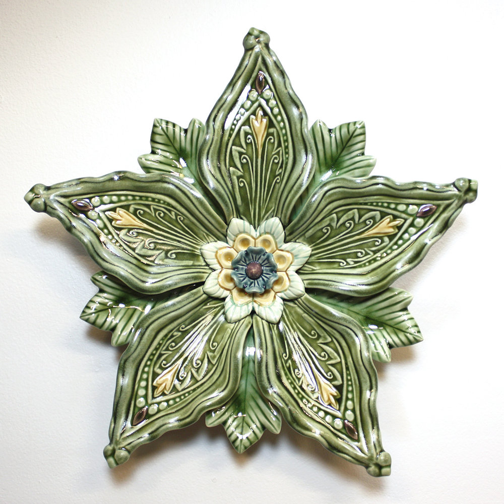 """Deco"" Series 5-petal in Green 12""x2"""