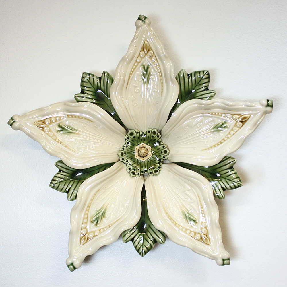 """Deco"" Series 5-petal in Cream 12""x2"""