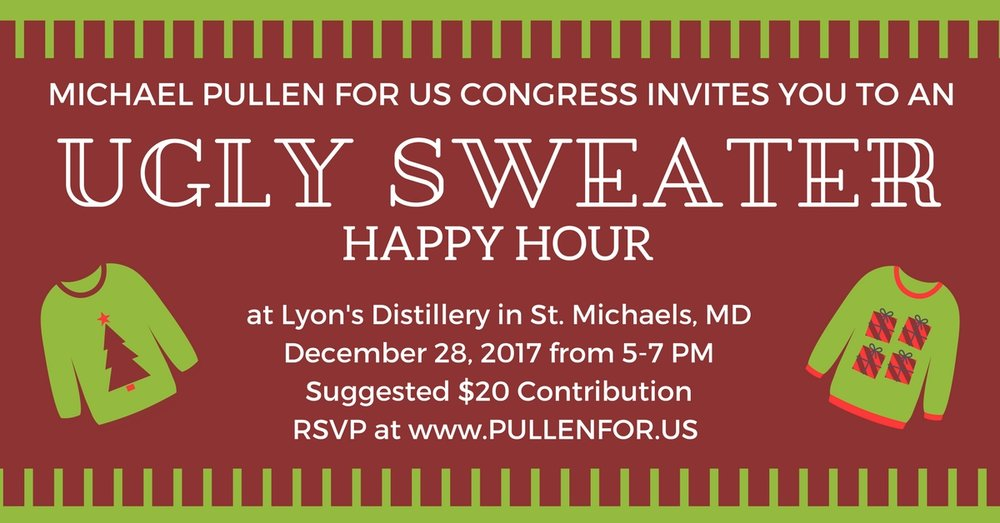 Ugly Sweater Party Happy Hour in St. Michaels, MD