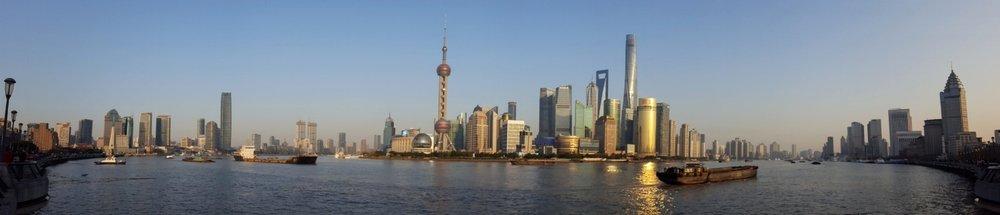 shanghai bund panorama