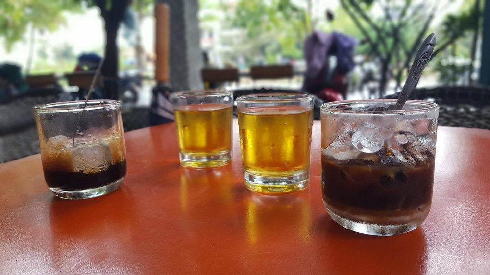 Vietnamese coffee with tea