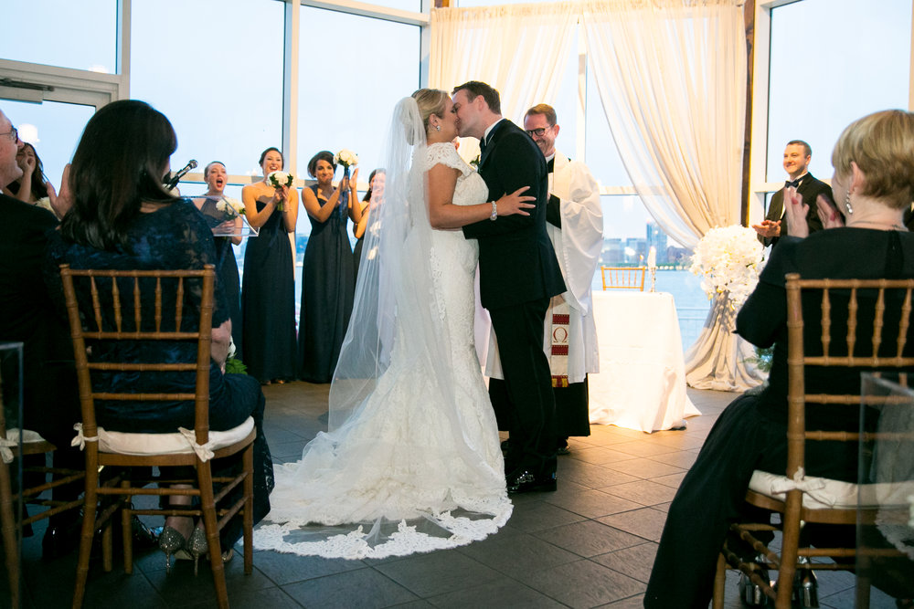 Wedding ceremony at the Lighthouse Chelsea Piers