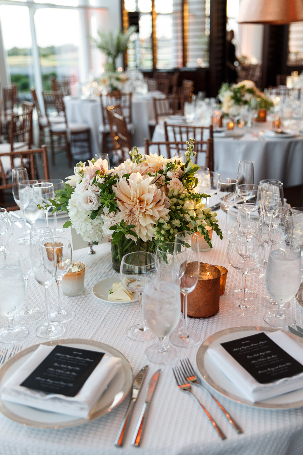 Copper wedding accents