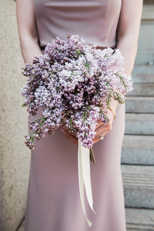 Lilac bridesmaids bouquet