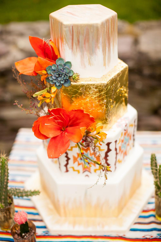 Gold gilded cake