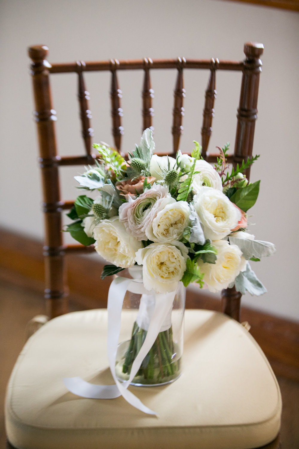 Garden rose bridal bouquet