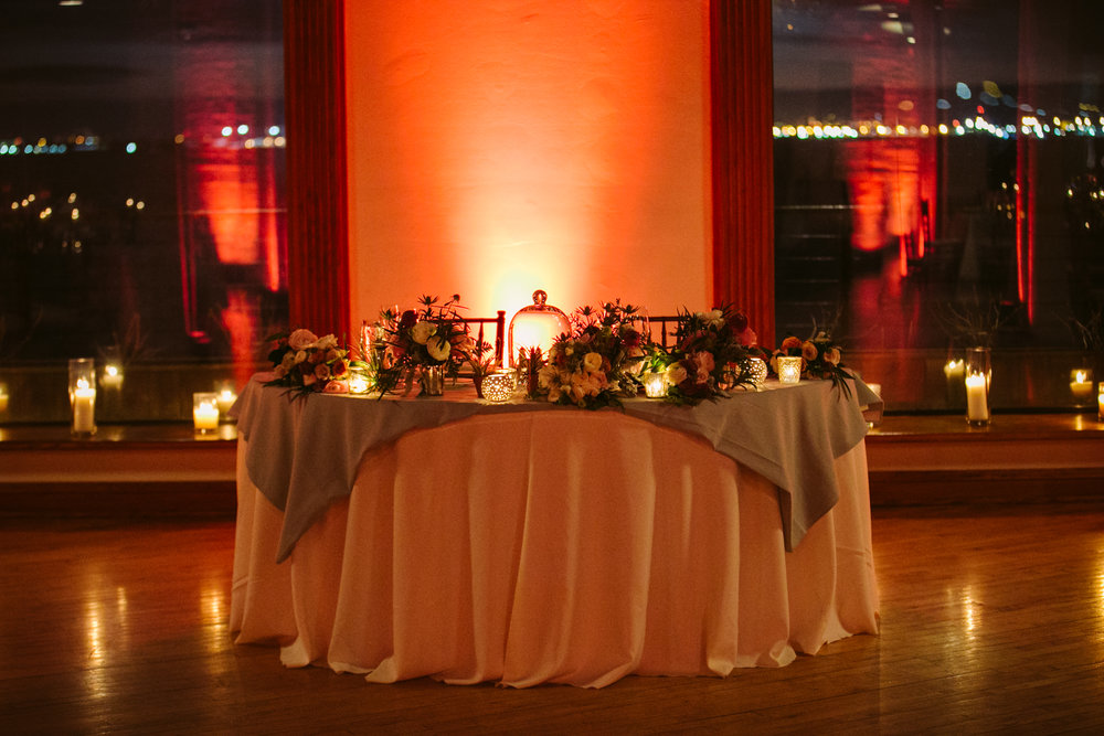 Liberty warehouse sweetheart table