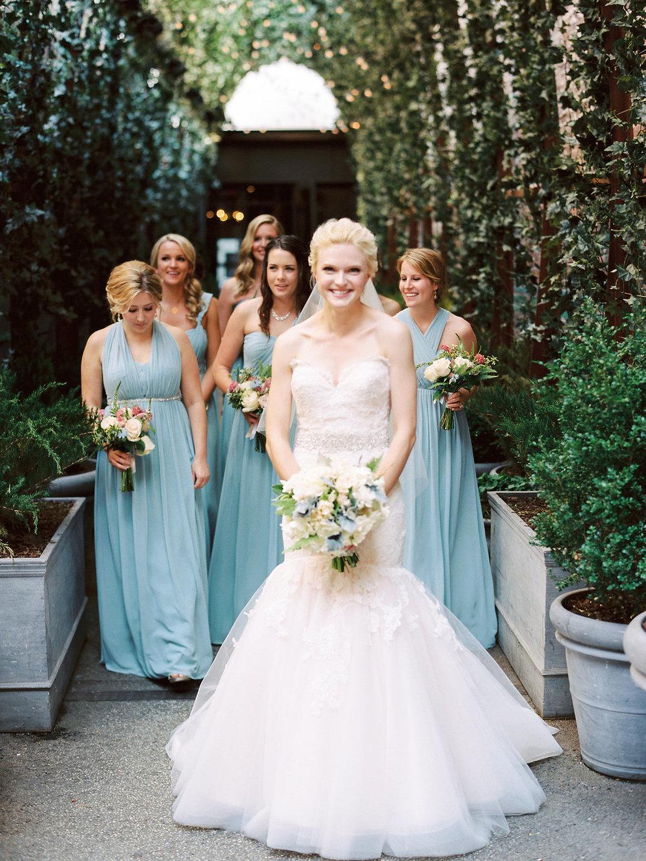 Brooklyn Botanical Garden wedding party