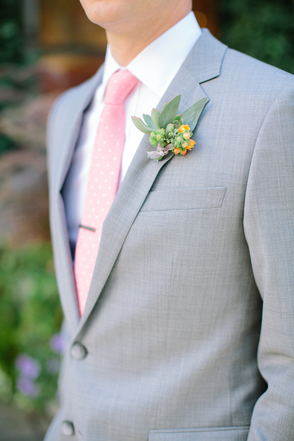Eucalyptus and orinthagalum boutonniere