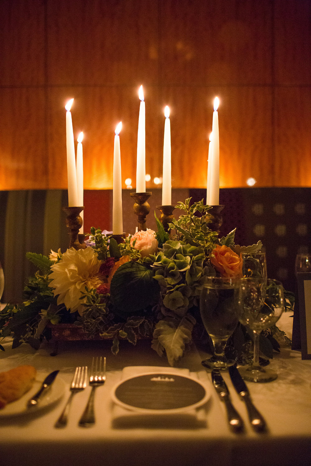 Candle tray centerpiece
