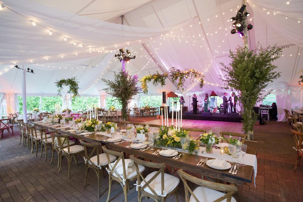 Caramoor tent reception