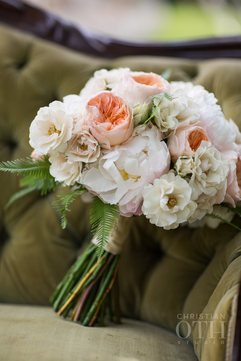 Juliet garden rose bridal bouquet