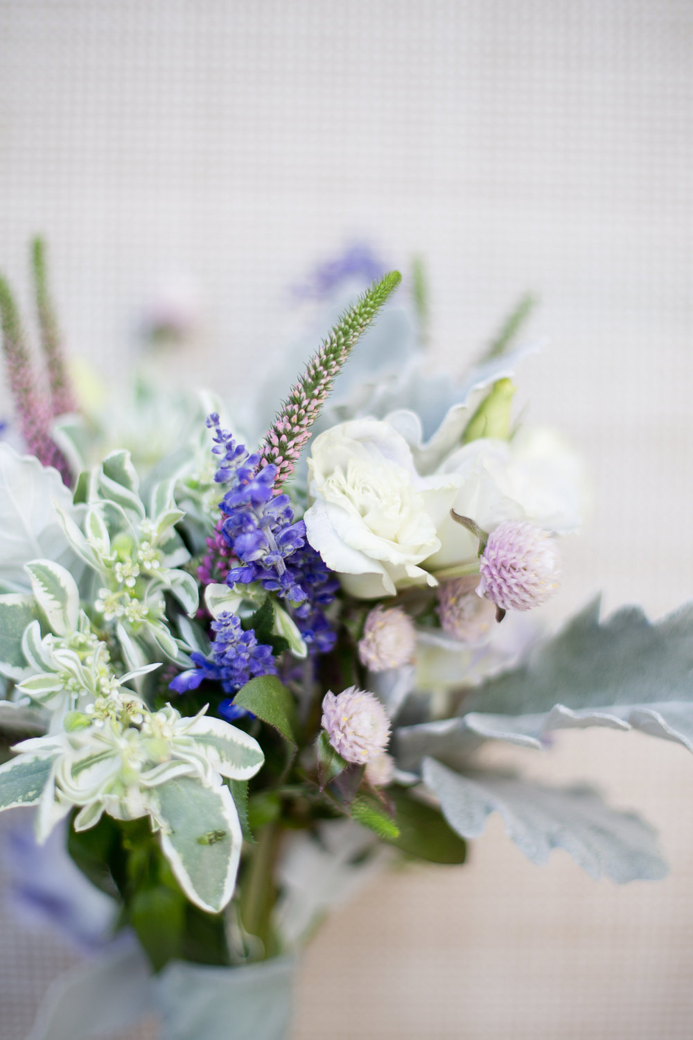 Dusty miller bridesmaids bouquet