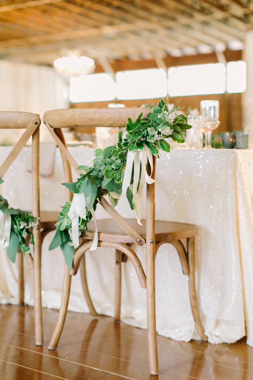 Chair garland eucalyptus