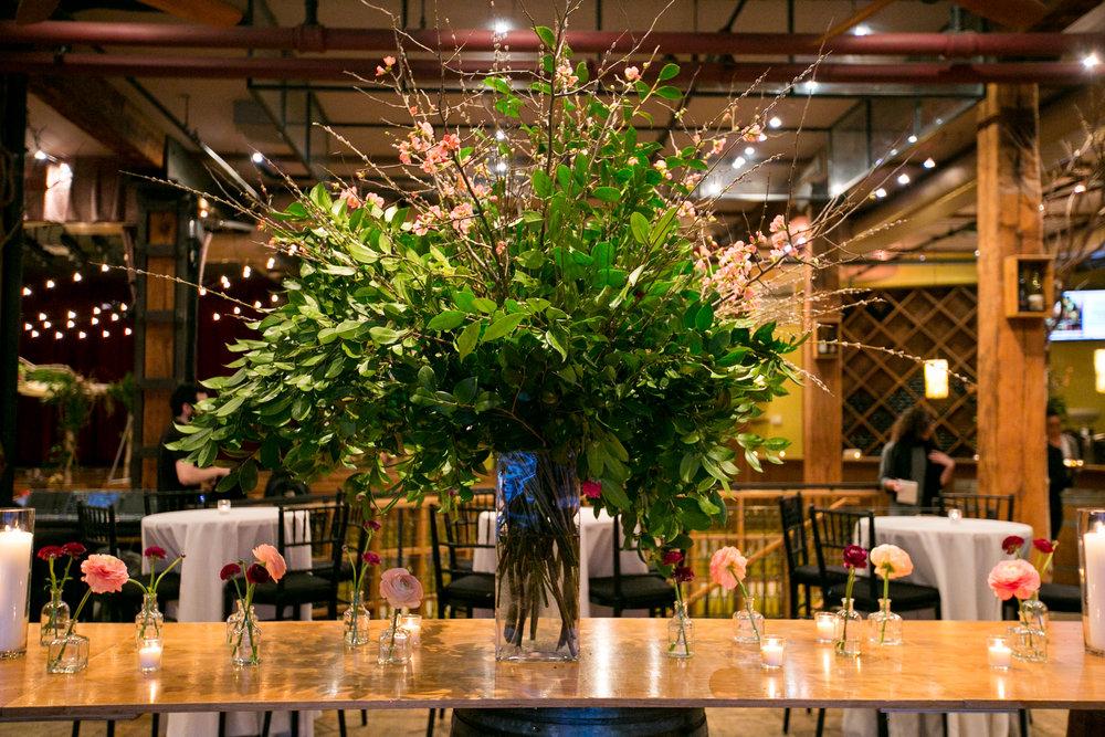 Camellia branch arrangement