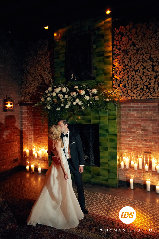 Bowery Hotel fireplace ceremony