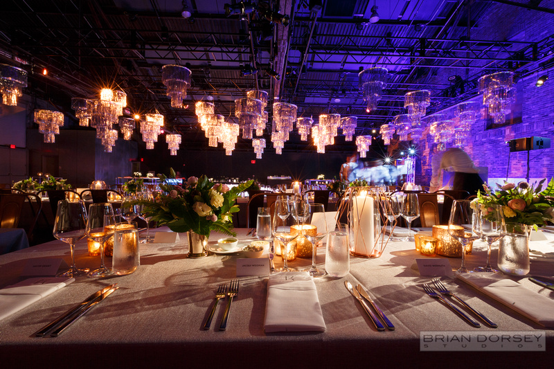 Mylar chandeliers over dance floor