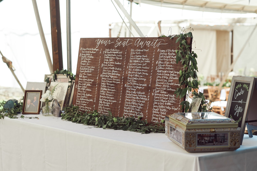 custom calligraphy seating board