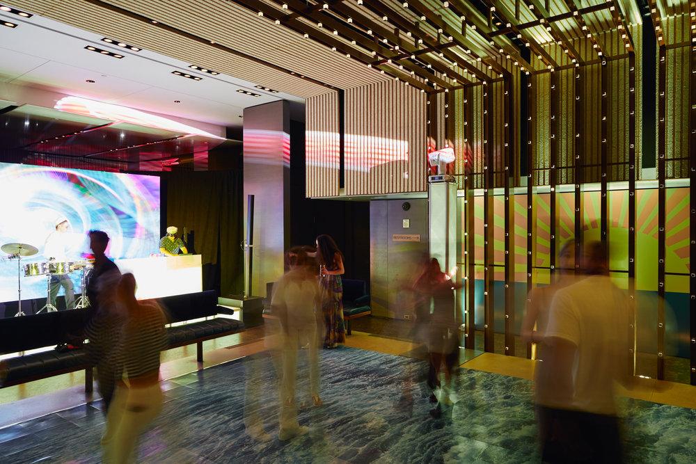 ocean wave dance floor summer party