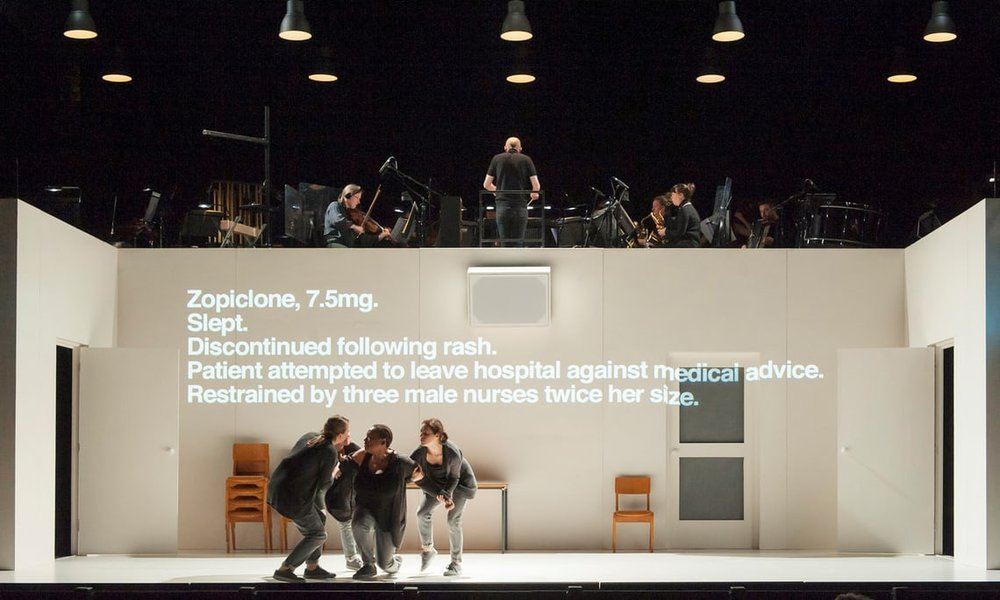 Royal Opera's production of 4.48 Psychosis at the Lyric Hammersmith. Photograph: ROH/Stephen Cummiskey 2018