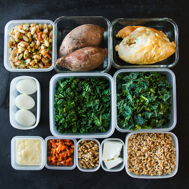 Here's How To Pack 5 Make-Ahead Healthy Lunches - Recipes/text by Christine Byrne; photos by Lauren Zaser