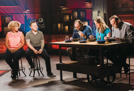Beat Bobby Flay - Appeared as a judge alongside chefs Wylie Dufresne and Charlie Palmer. Aug 2014.