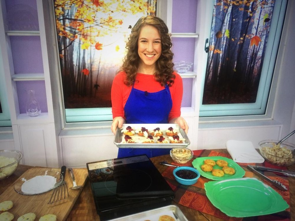 The TODAY show - Quick cooking demo of Thanksgiving leftovers. Nov 2014.