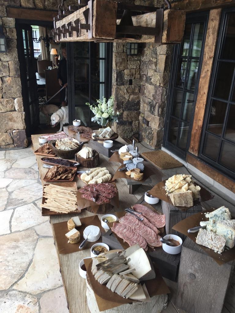 vail wedding food table