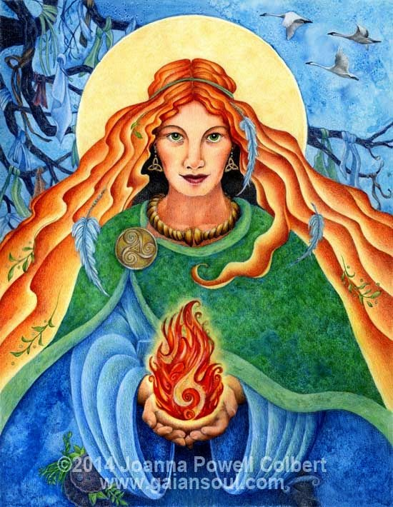 """Brigid's Fire"" artwork by Joanna Powell Colbert"