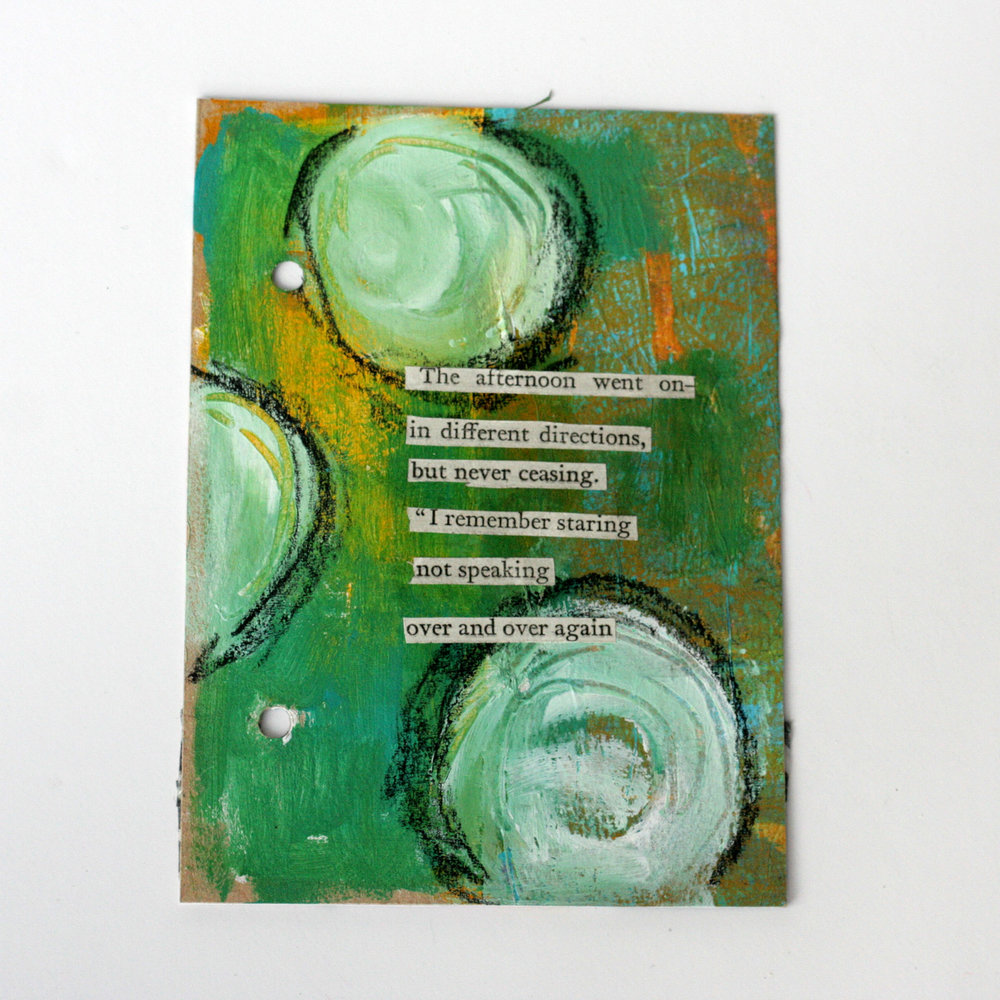 "100 Days of Found Poems - Using found words from the novel ""Cranford"" I'm creating 100 mixed media art works using found ephmera and scraps I have in my stash. Follow along with @kgaunt #mixedmedia #artjournal #found poem #foundpoetry"