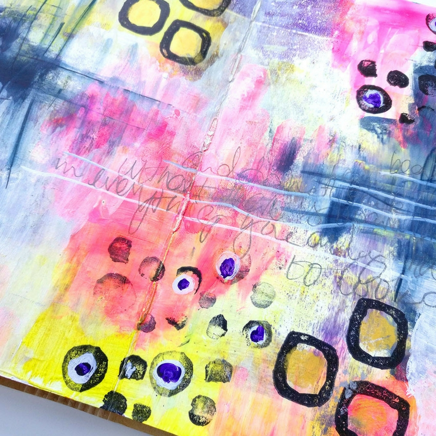 There is nothing worse than an ugly art journal page is there? When I started working in my mixed media art journal this page was the WORST but I worked through it and managed to save it! Watch me create in my video art tutorial #mixedmedia #artjournal #artjournaltutorial