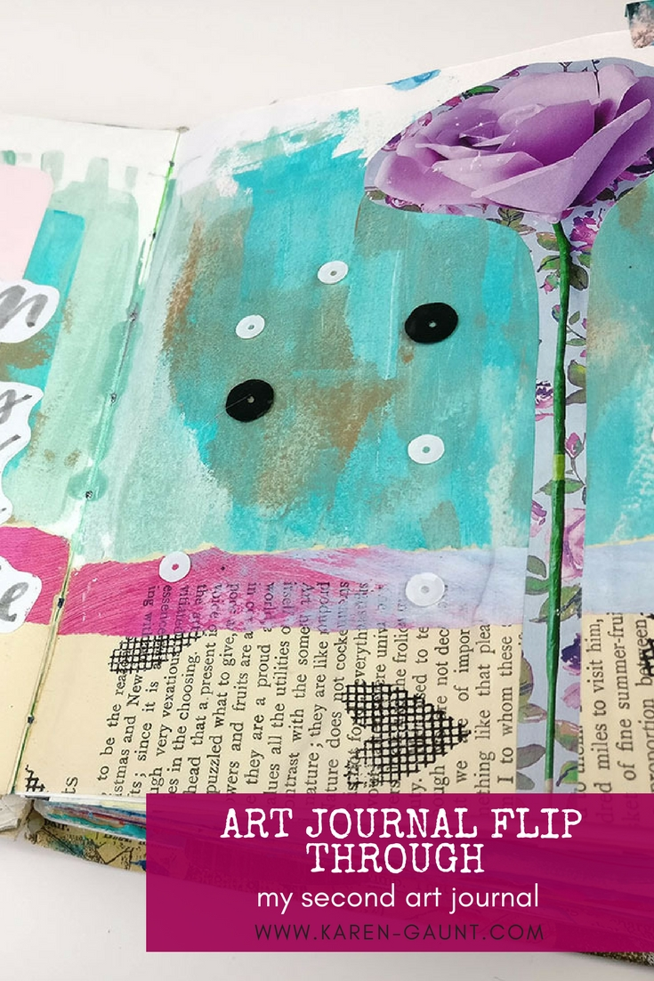 Journal Flip Through 2018 | Part Two  Join me as we travel back in time to see another of my early journals! I flip through my second art journal with you a reminisce about pages past. I wanted to show you that everyone starts somewhere in their art journal journey and looking through some of these older pages has been a blast! I even surprise myself by getting inspired to try some old techniques again.