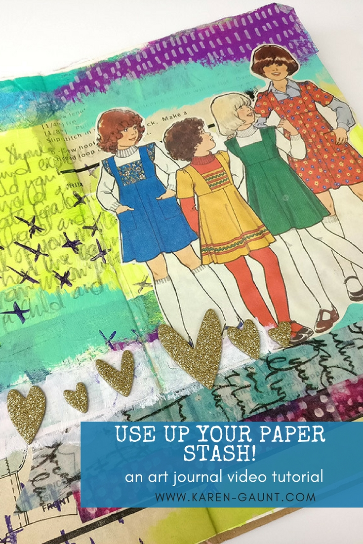 When working in my Art Journal one thing that never fails to spark my muse into action is my collection of paper scraps and ephemera. I'm sharing with you how I have taken my papers after organising them and now I use them to create this colorful mixed media journal page! Enjoy the tutorial!