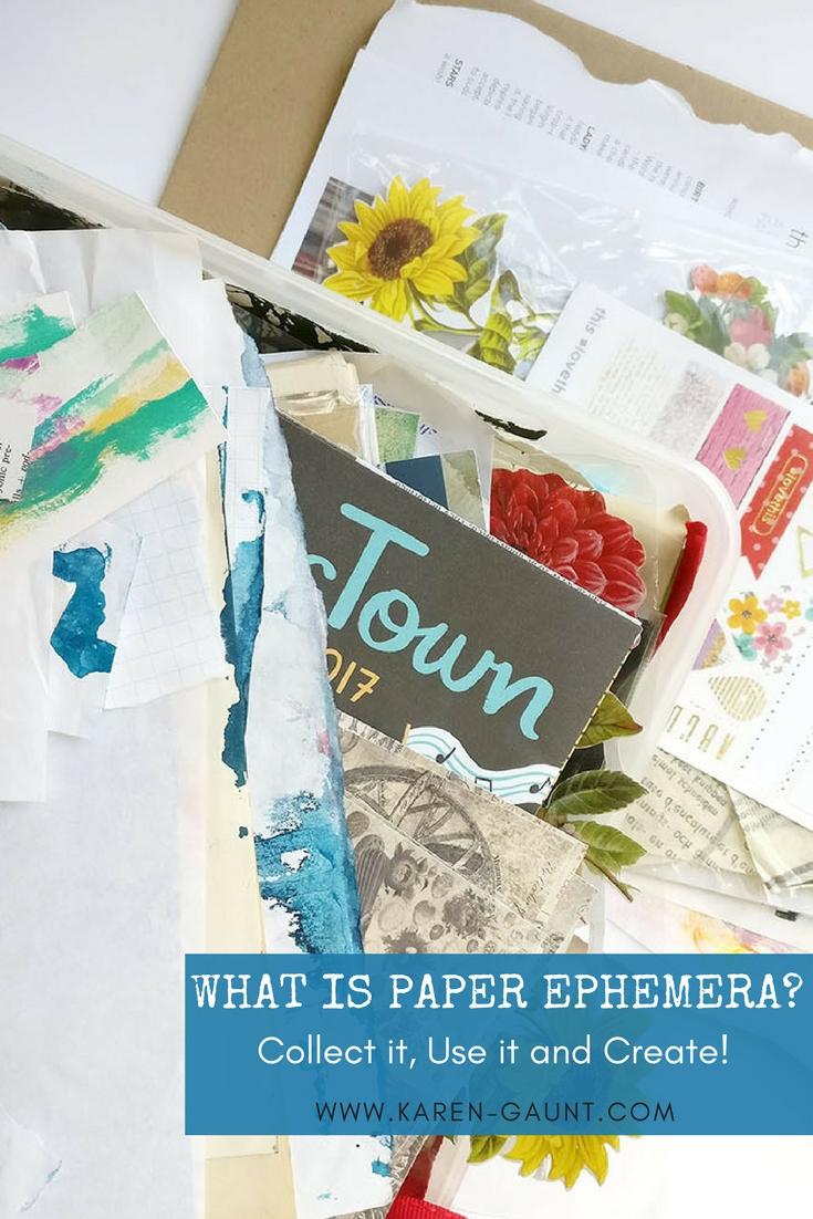 "Sometimes I feel like the word ""ephemera"" is thrown around so much in the mixed media and art journal community that it can sometimes be lost in translation. It becomes a ""jargon"" word and anyone new to the community doesn't know what exactly it means.  Well I'm here to show you exactly what paper ephemera can look like and what to look out for to inspire your next mixed media creation!"