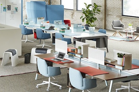 Office environment with Haworth office furniture
