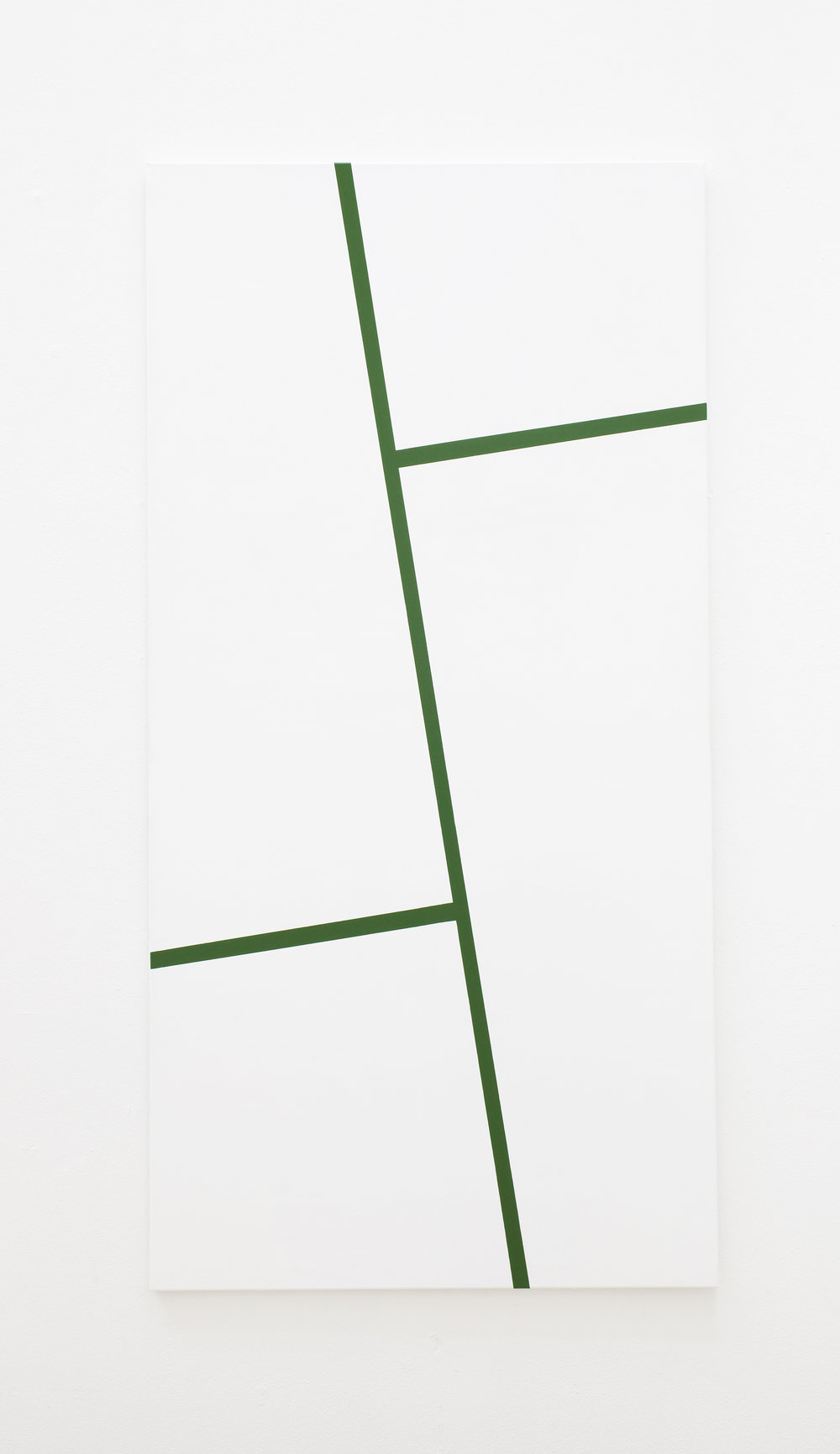 Bamboo, 2010, lacquer on canvas, 100 x 200 cm