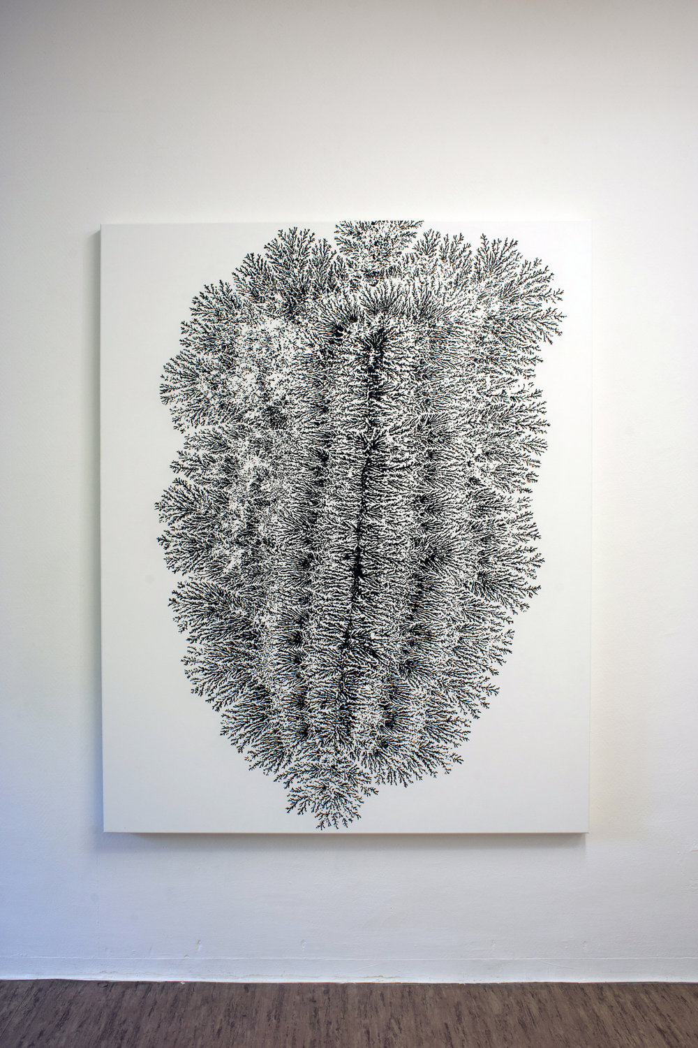Dendrite, 2013, acrylic on canvas, 140 x 175 cm