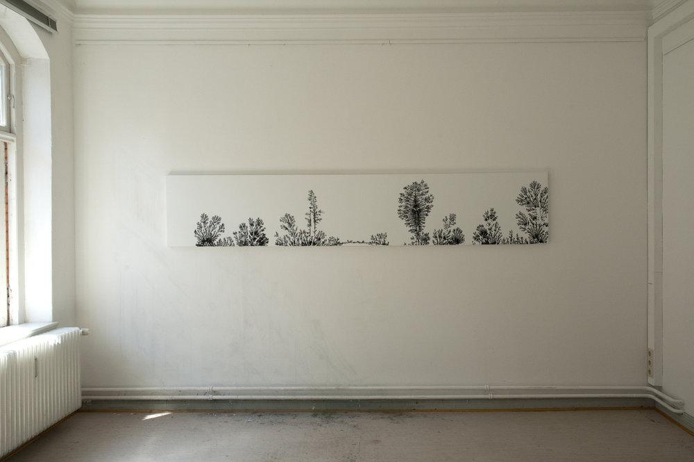The ancient landscape, 2013, acrylic on canvas, 56 x 300 cm
