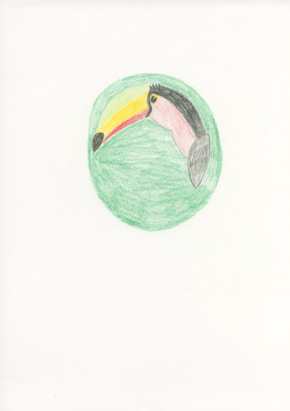 Untitled, 2012, color pencil on paper, 21 x 29,7 cm