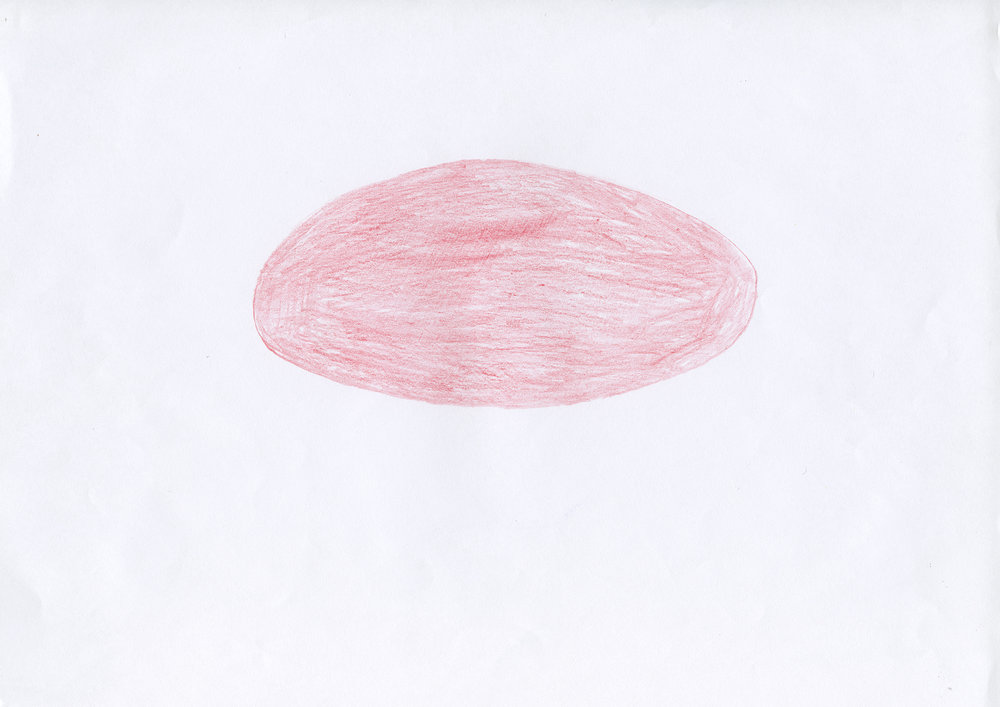 Untitled, 2006, color pencil on paper, 21 x 29,7 cm