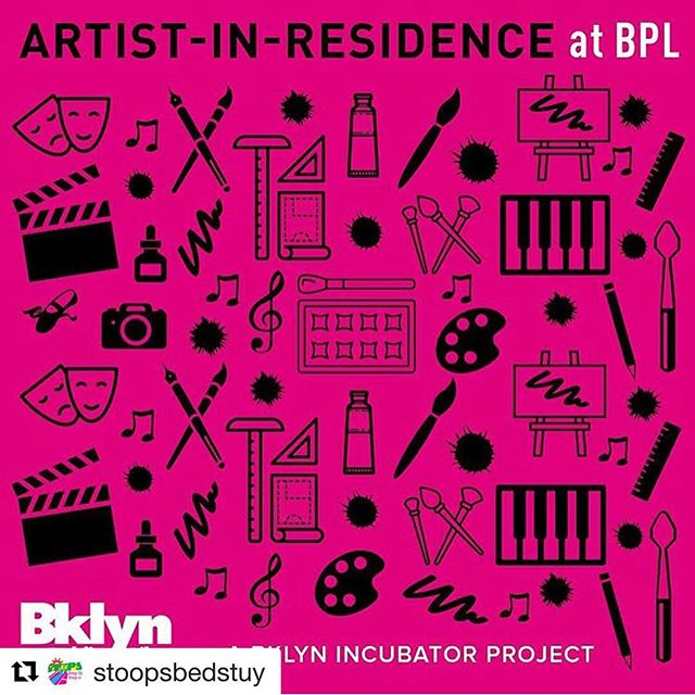 Artist Opportunity Alert!  #Repost @stoopsbedstuy with @get_repost ・・・ The @bklynlibrary Artist-in-Residence program is EXTENDING their application DEADLINE to MONDAY, MARCH 4 at 11:59PM. . . The Brooklyn Public Library Artist-in-Residence (AIR) program will sponsor residencies for 6-8 local artists from Bedford Stuyvesant and Crown Heights communities. Residencies of 4 to 10 weeks include studio space, stipends and program supplies. Artists selected for this program are at all stages in their careers and work in all media, including drawing, painting, sculpture, photography, film, video, new media, installation, fiction and nonfiction writing, poetry, dance, music, interdisciplinary, social practice, and architecture. . . This program is in partnership with @stoopsbedstuy. Application is available through our link in bio. Please tag any artists in your network in the comments below 👇🏾👇🏾👇🏾. . . #bedstuyresident #crownheights #bedstuy #artistresidency #artistsofinstagram #STooPSartist #community #brooklyn