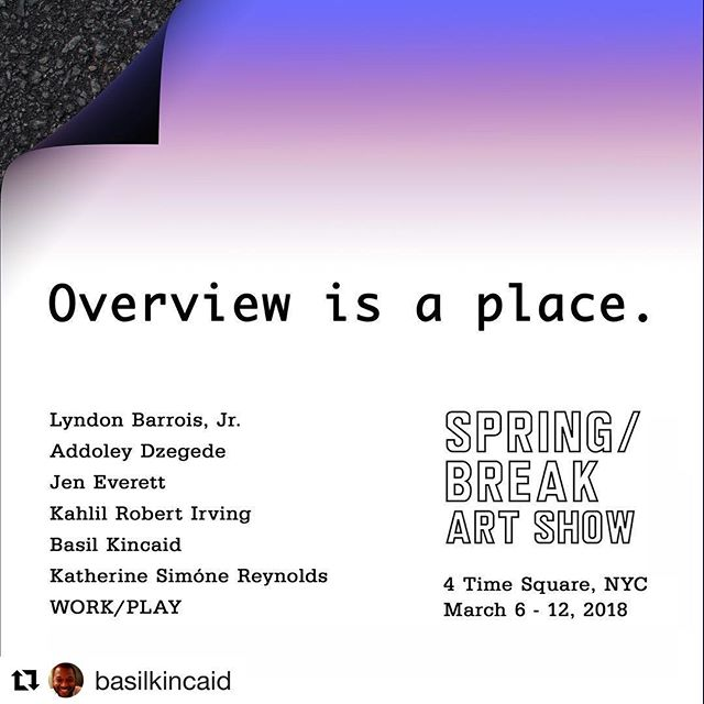 This is going to be a fun show! All wonderfully talented artists from St. Louis.  Check it out on March 6th!  @dzegede @eljaybitu @work_play @basilkincaid @kahlilirving @jeneverettart @theunsuspended  #stl #stlouis #blackartists #visualarts #nyc #springbreak #exhibition #artists  #Repost @basilkincaid with @get_repost ・・・ 📢 NY Peeps come check us out!! St. Louis is in the building 🔊