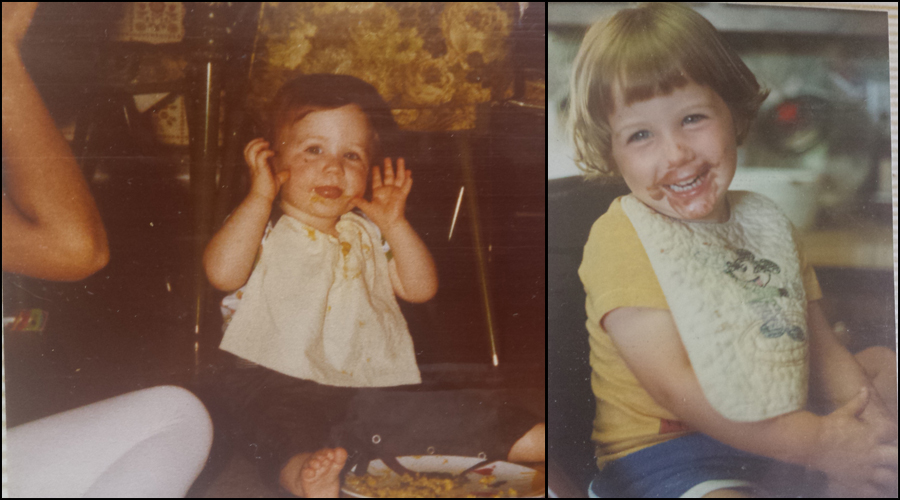 These two pictures were of a little girl my mom started caring for when Sandy was only 6 weeks old. My mom took care of her as if she was her very own until she was 7!    And as you can tell, the food was probably pretty yummy, too!