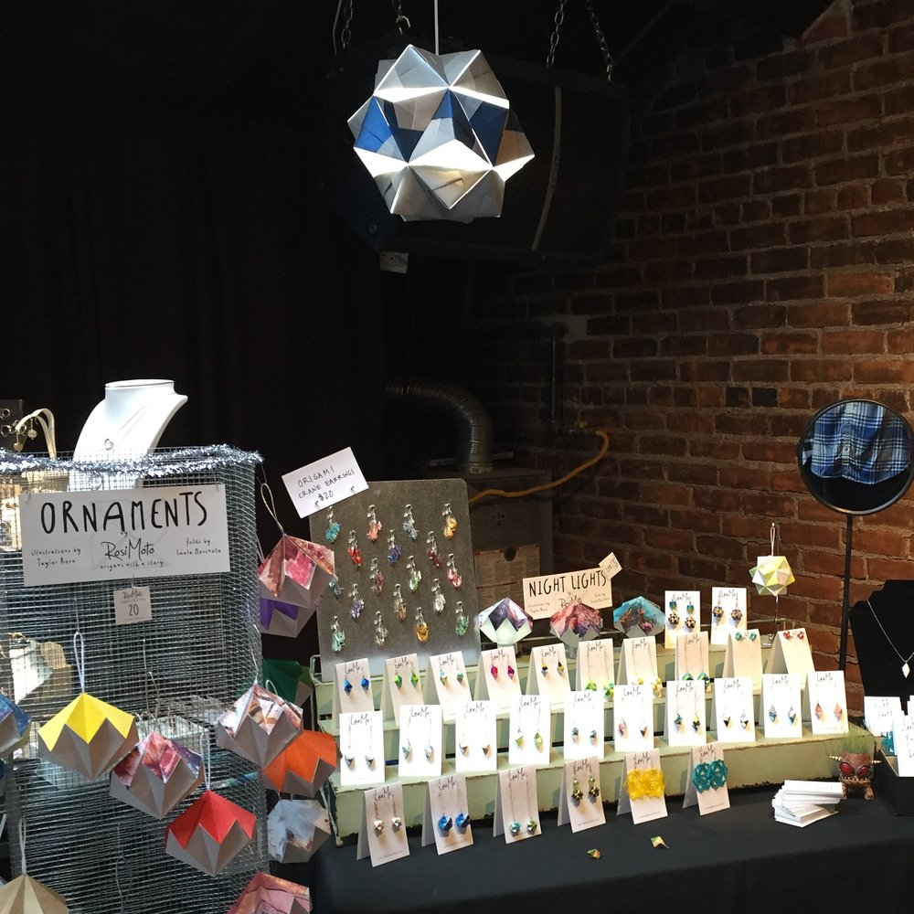 Display at Craft-O, Dec. 2015