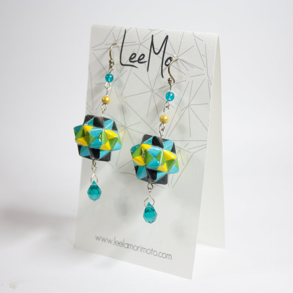 Origami Dodecahedron Earrings