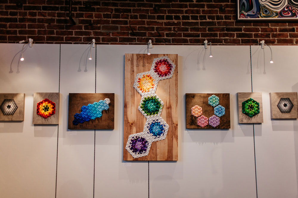 Origami Modular Wall Art Display