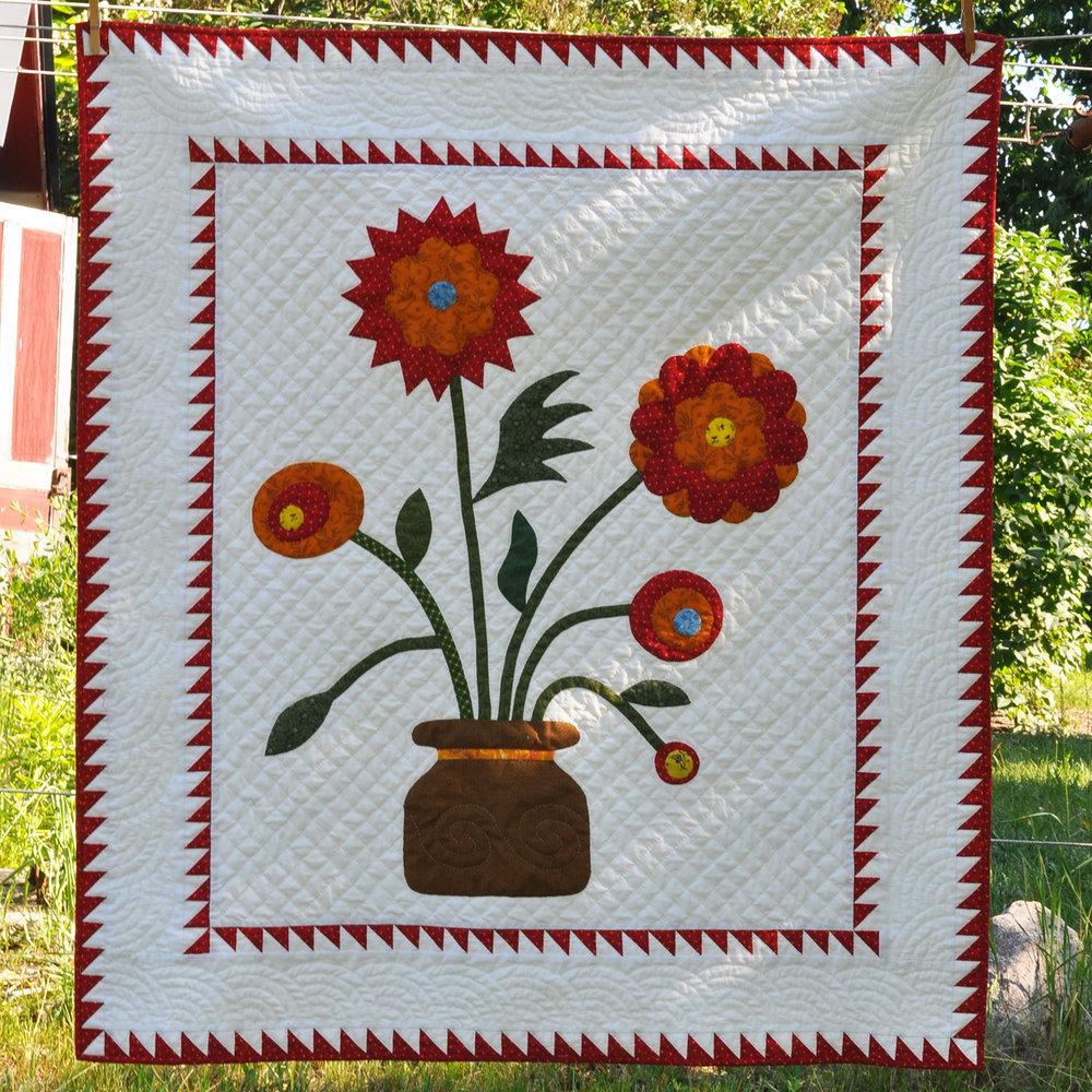 Flower Pot Quilt - 2011