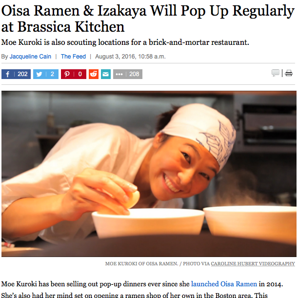 Oisa Ramen Lands Regular Pop-Up at Brassica Kitchen